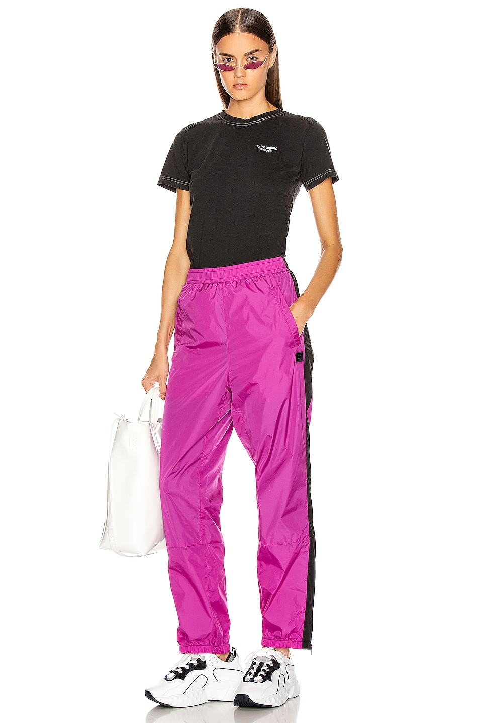 Image 5 of Acne Studios Phoenix Face Track Pant in Magenta Pink