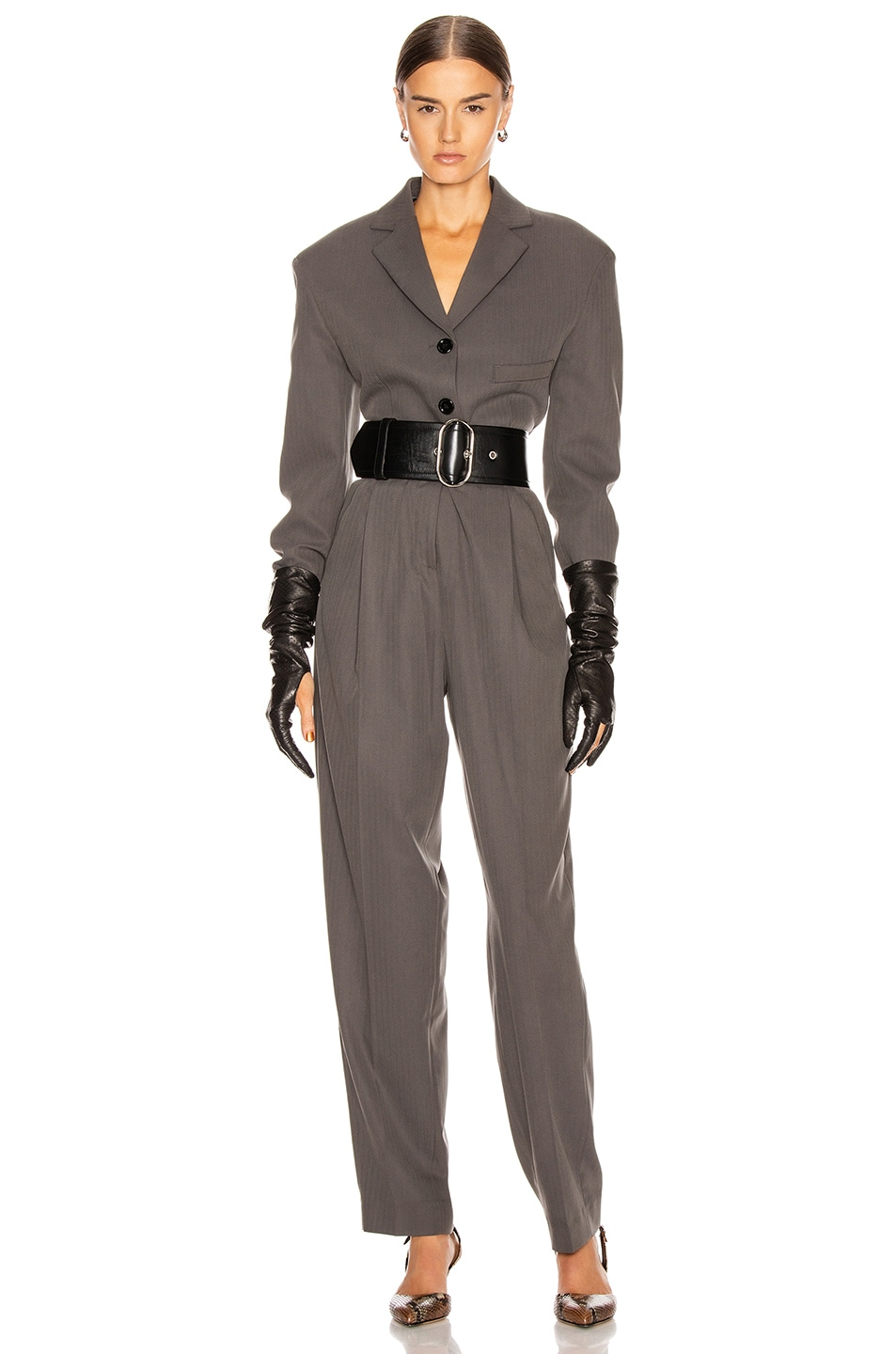 Image 4 of Acne Studios Peggerine Trouser in Charcoal Grey