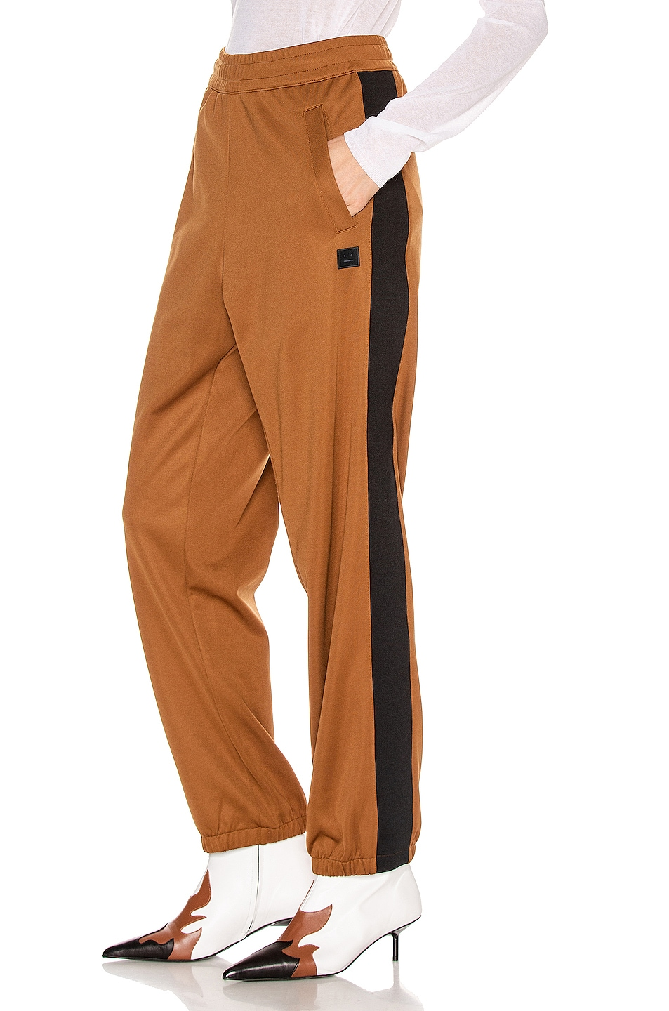 Image 1 of Acne Studios Face Trousers in Caramel Brown
