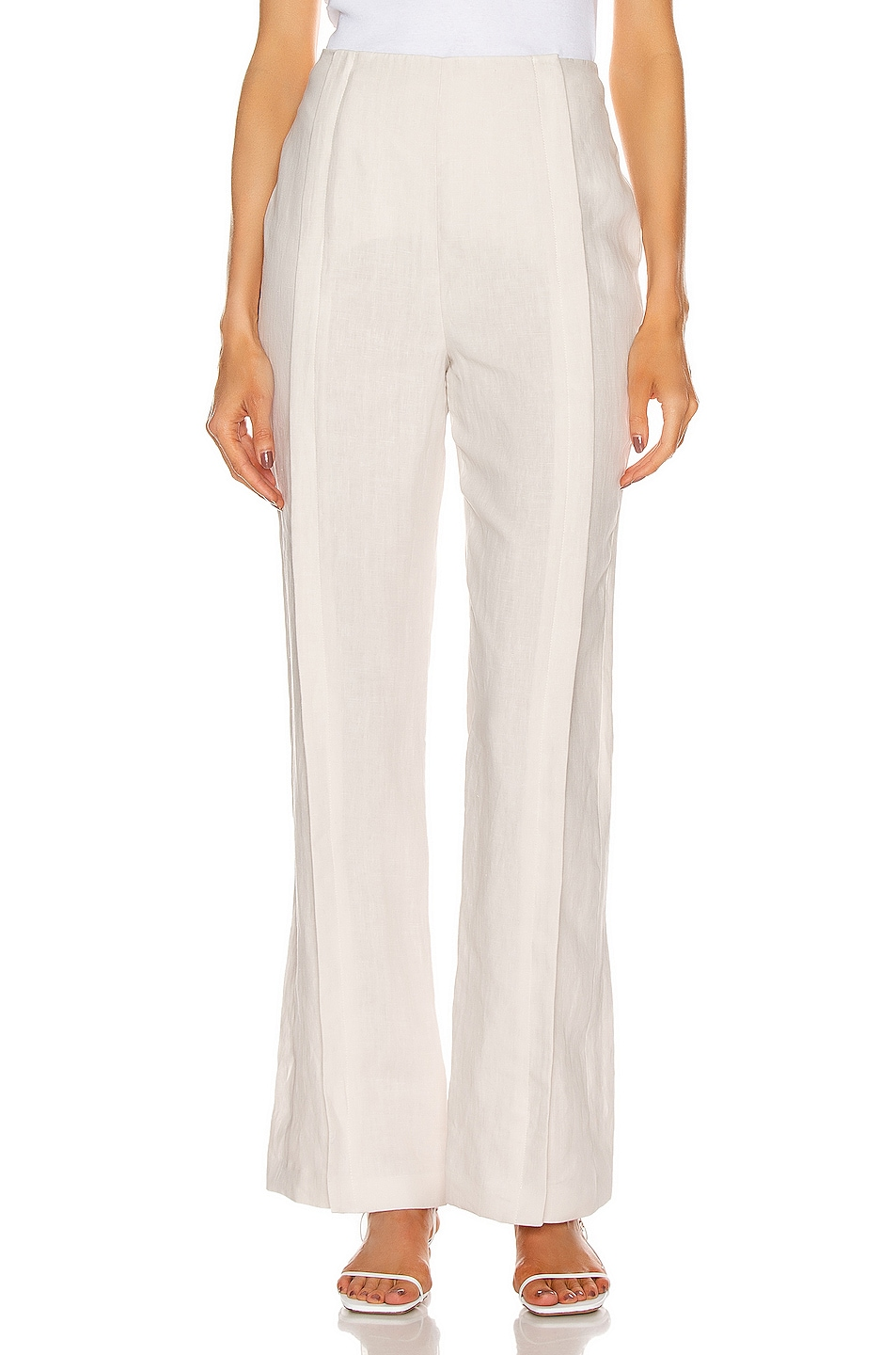 Image 1 of Acne Studios Linen Trouser Pant in White Melange