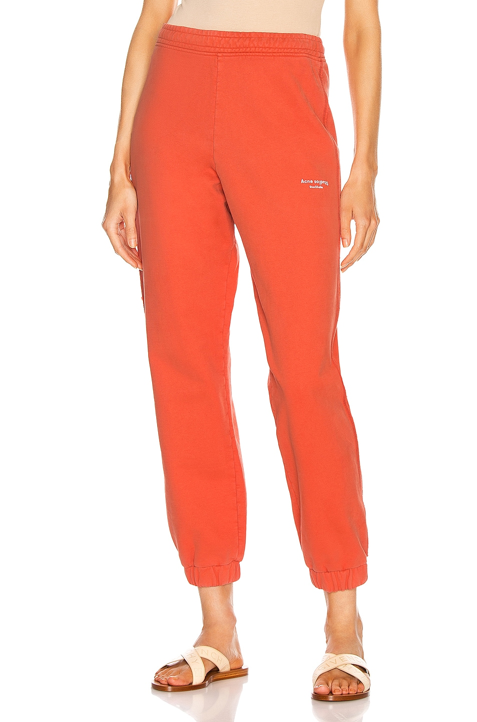Image 1 of Acne Studios Stamp Trouser Pant in Poppy Red