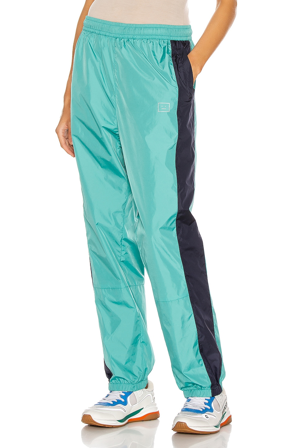 Image 1 of Acne Studios Phoenix Face Track Pant in Jade Green