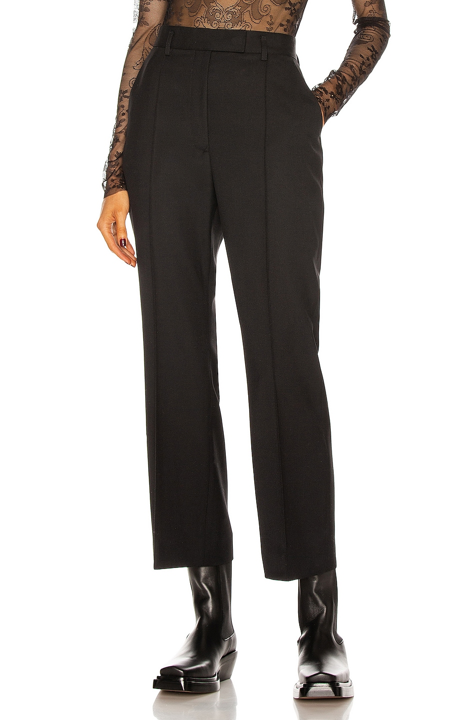Image 1 of Acne Studios Cropped Tailored Pant in Black