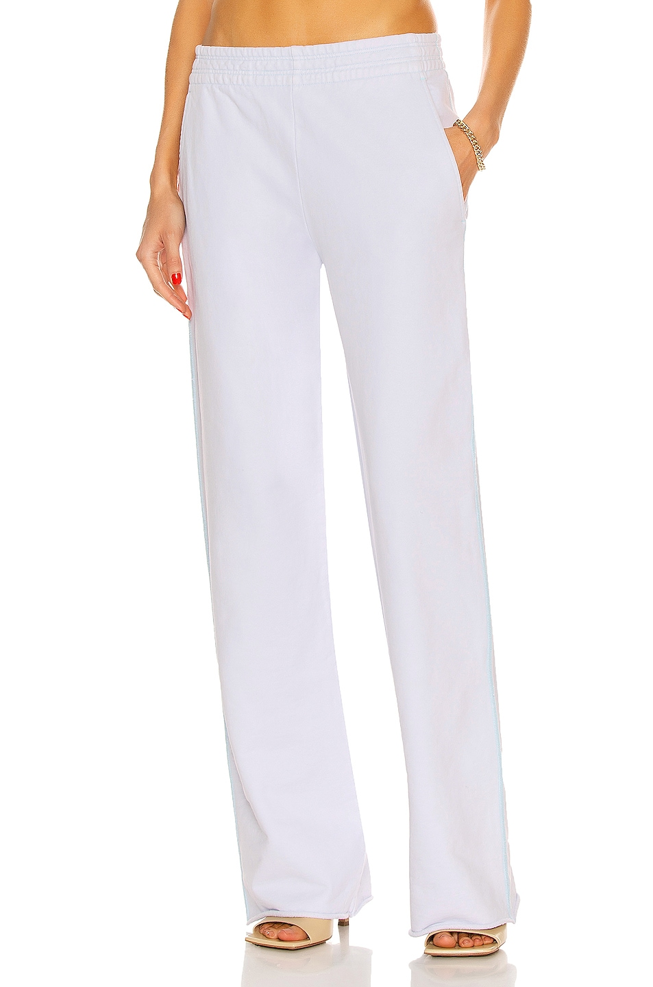 Image 1 of Acne Studios Flared Sweatpant in Pale Blue