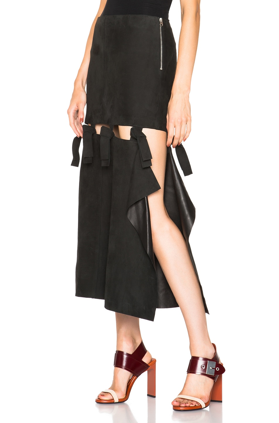 Image 1 of Acne Studios Hein Leather Skirt in Black