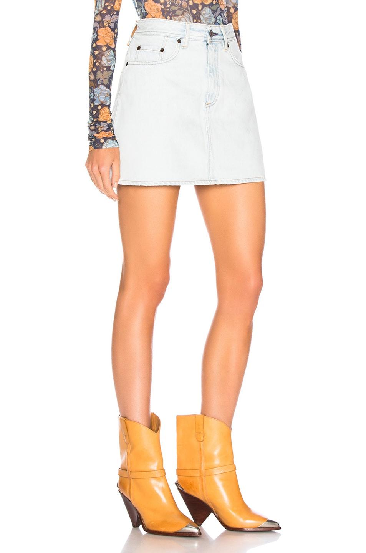 Image 2 of Acne Studios x Bla Konst Mini Skirt in Light Blue