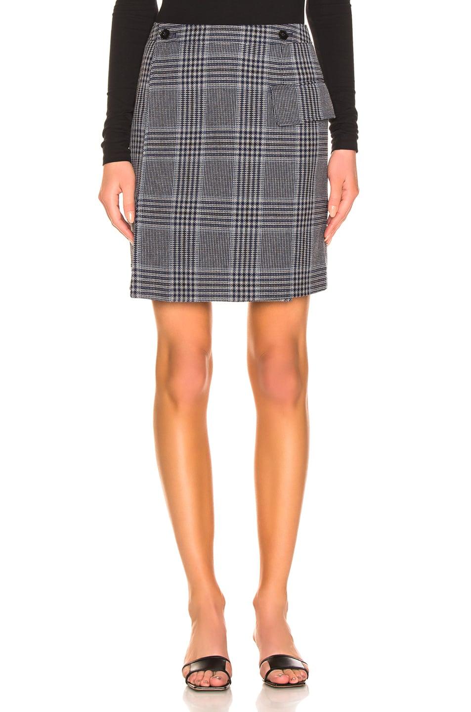 Image 1 of Acne Studios Ivonne Check Skirt in Navy & Navy