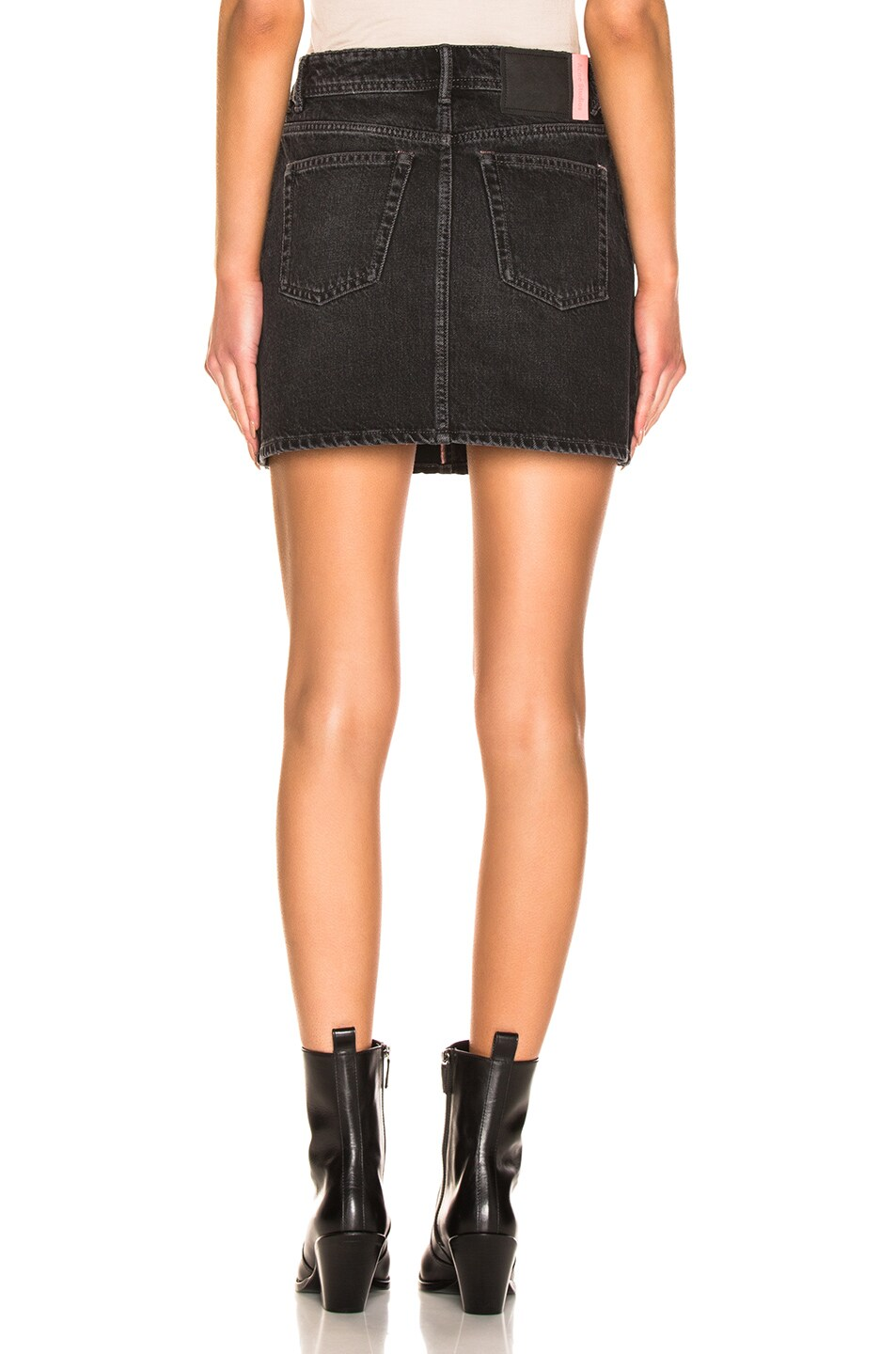 Image 3 of Acne Studios Caitlyn Denim Skirt in Black