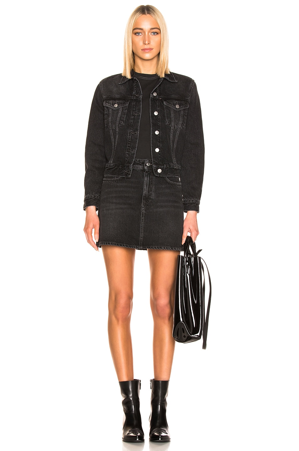 Image 4 of Acne Studios Caitlyn Denim Skirt in Black