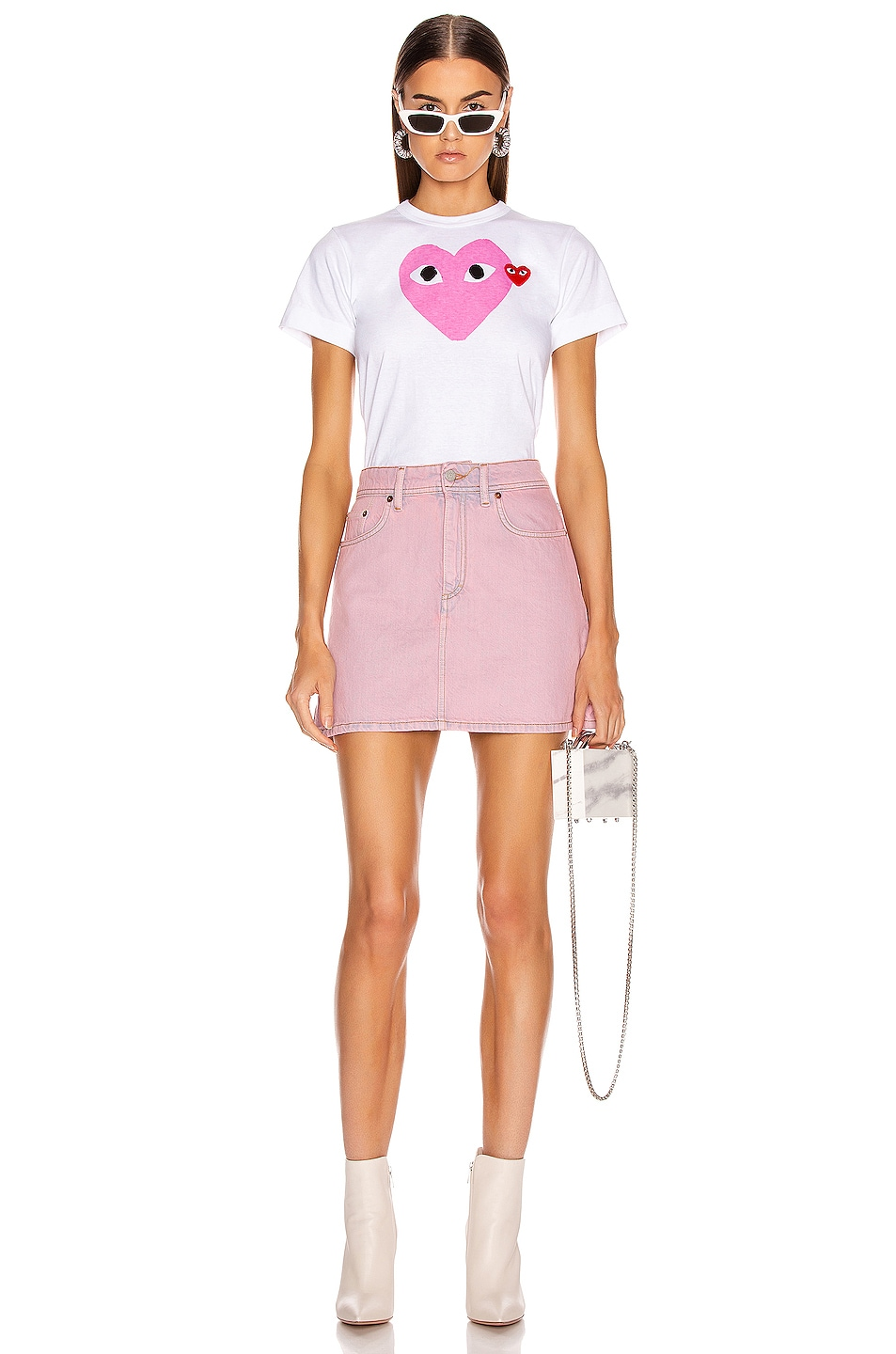 Image 4 of Acne Studios Bla Konst Caitlyn Skirt in Pink