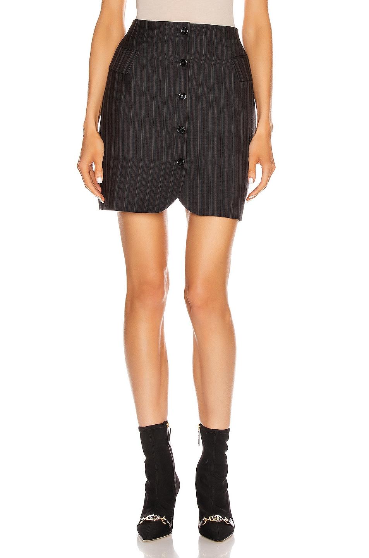 Image 1 of Acne Studios Pinstripe Skirt in Navy Blue