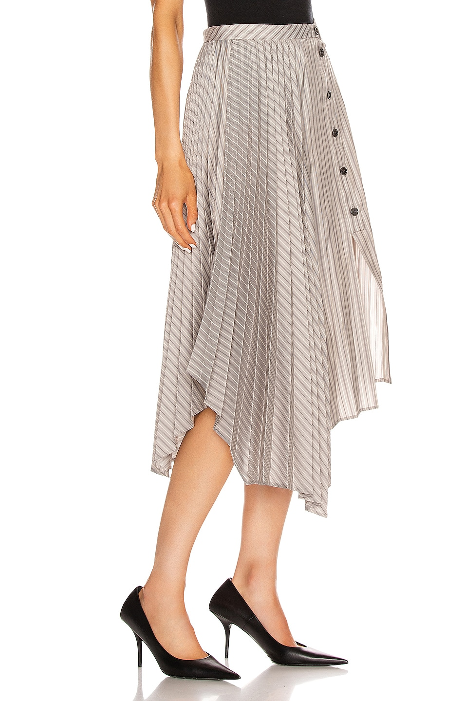 Image 2 of Acne Studios Ilia Skirt in Steel Grey