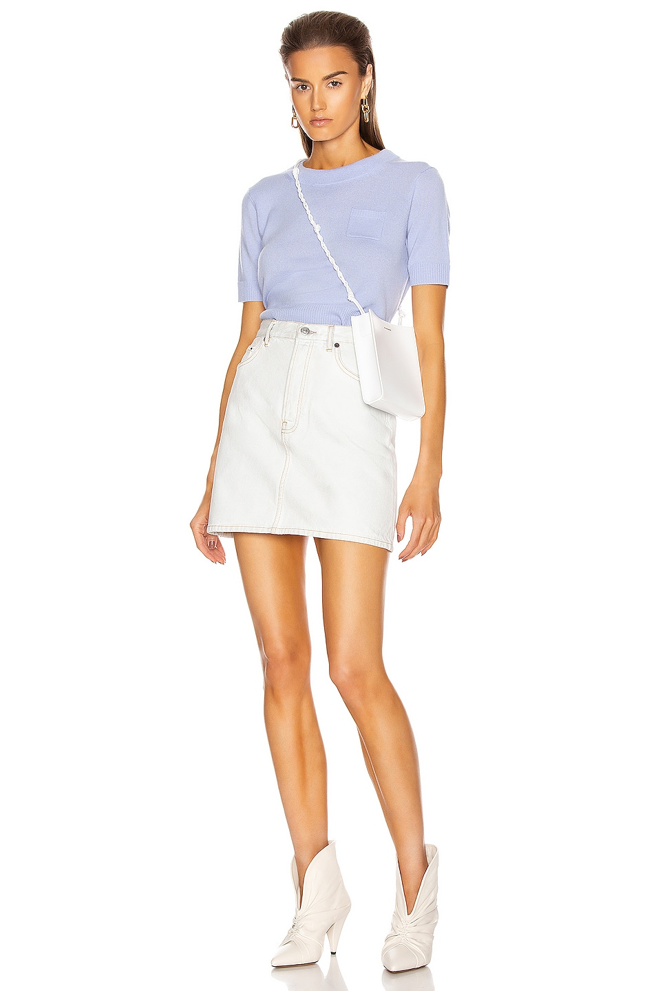 Image 4 of Acne Studios Mini Skirt in Pale Blue