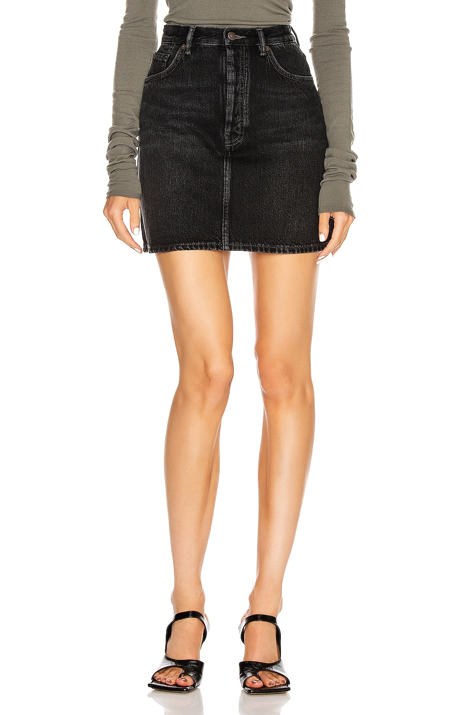 Image 1 of Acne Studios Mini Skirt in Black