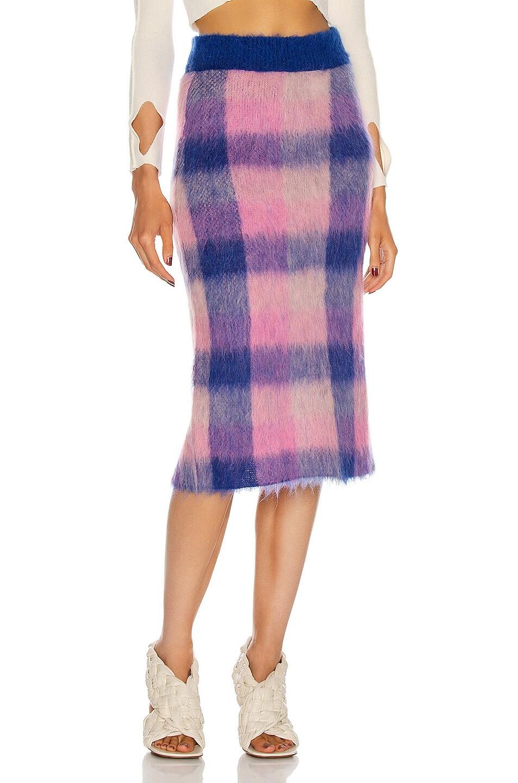 Image 1 of Acne Studios Kusannah Skirt in Blue & Pink