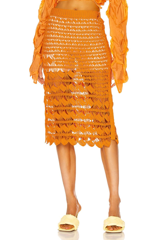 Image 1 of Acne Studios Midi Skirt in Orange