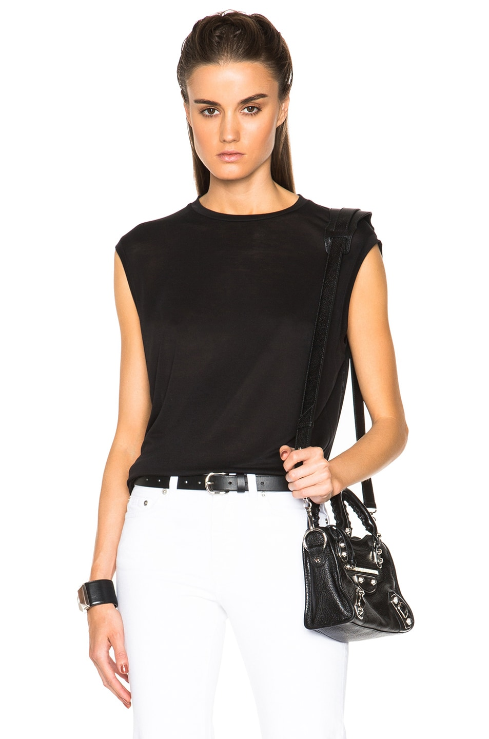 Image 1 of Acne Studios Bye Tencel Tank in Black