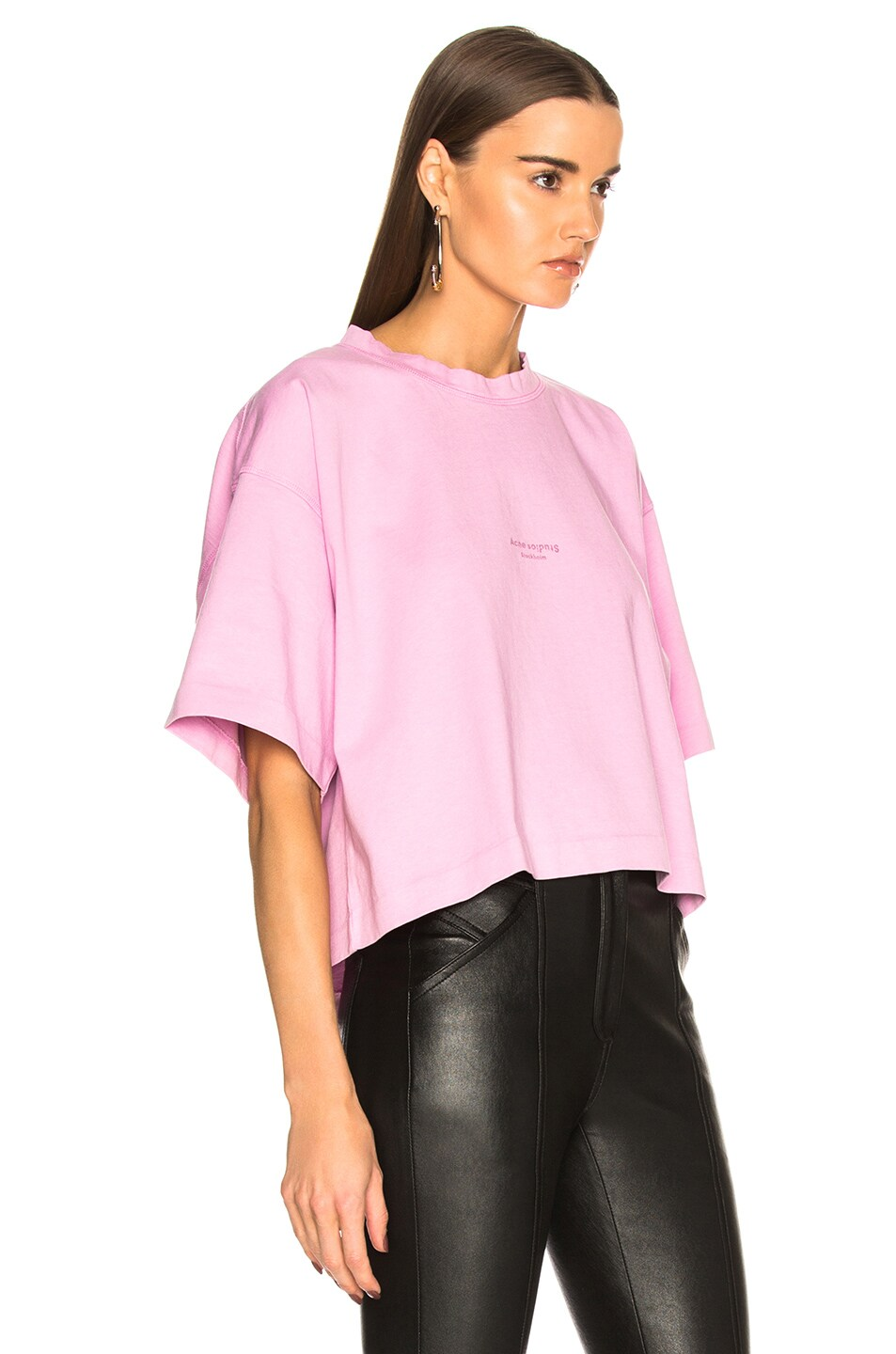 Image 2 of Acne Studios Cylea Tee in Candy Pink