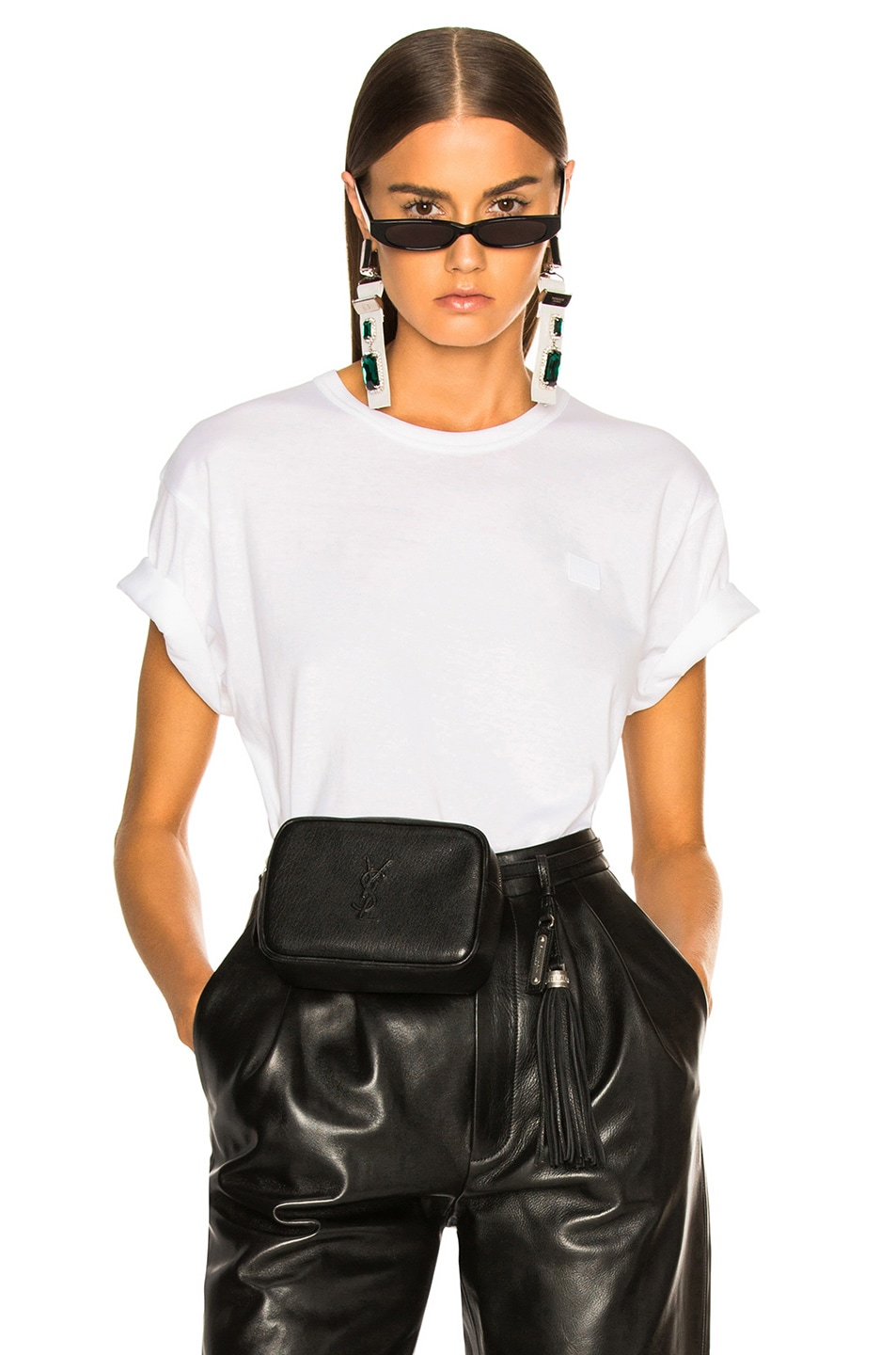 Image 1 of Acne Studios Nash Face Tee in Optic White