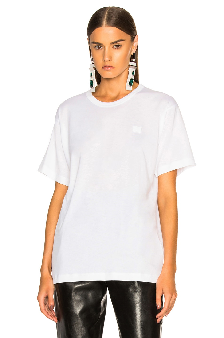 Image 2 of Acne Studios Nash Face Tee in Optic White