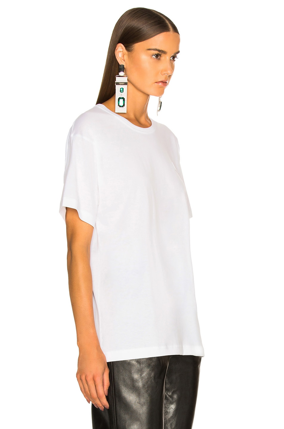 Image 3 of Acne Studios Nash Face Tee in Optic White
