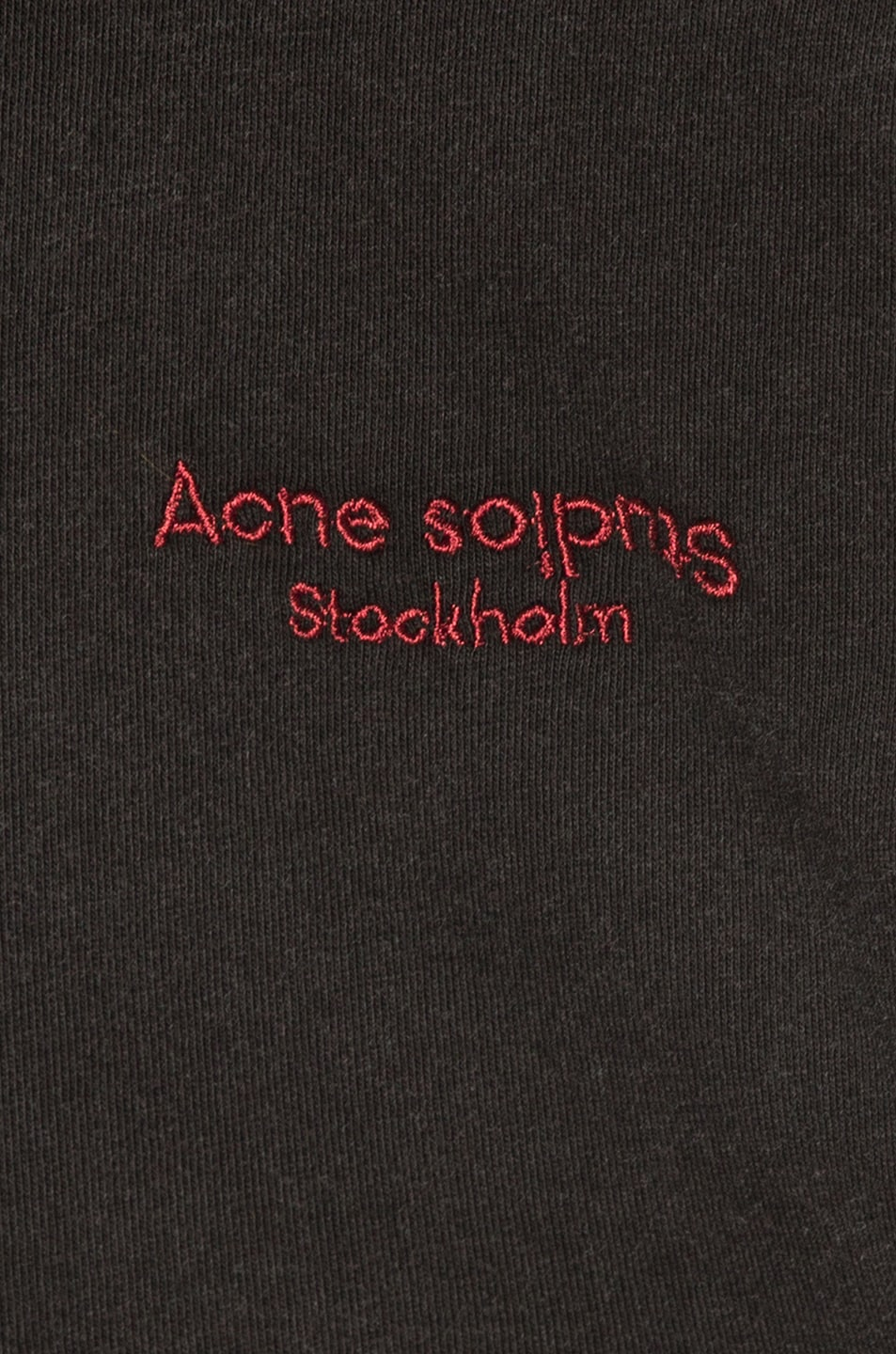 Image 7 of Acne Studios Logo Tee in Black