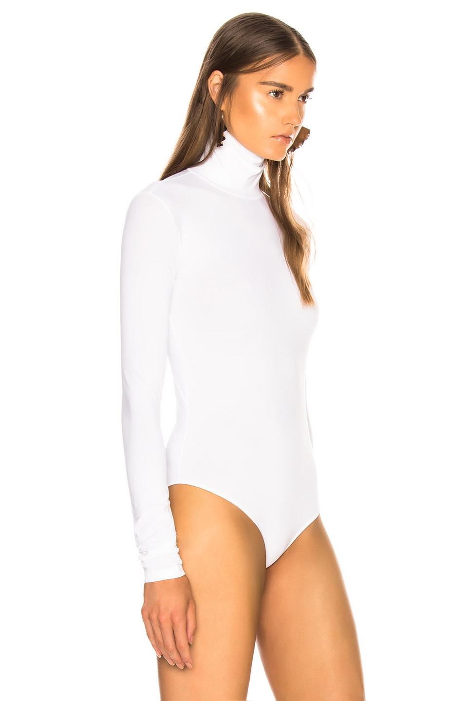 Image 3 of Acne Studios Long Sleeve Bodysuit in Optic White