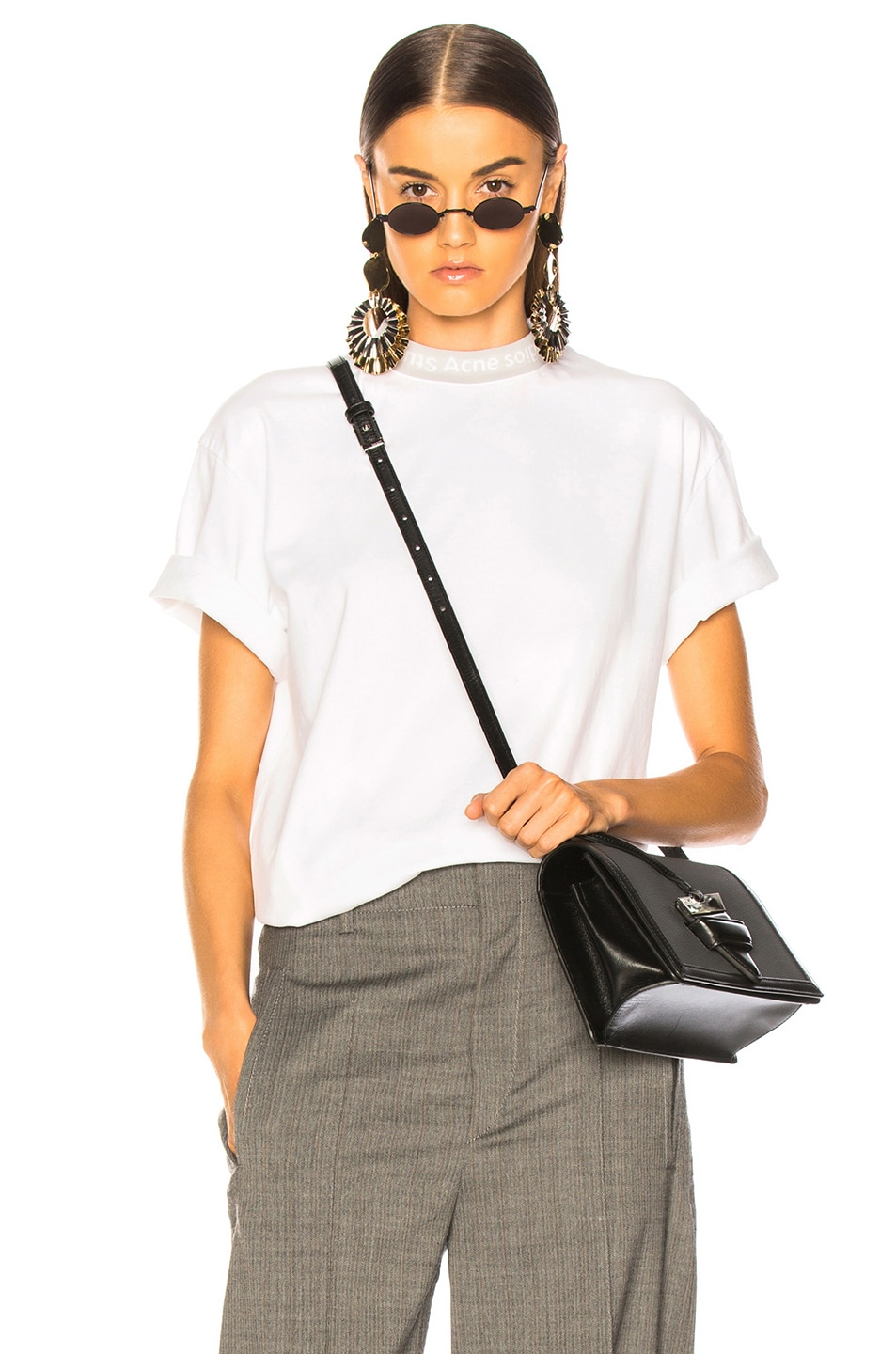 Image 1 of Acne Studios Gojina Tee in Optic White