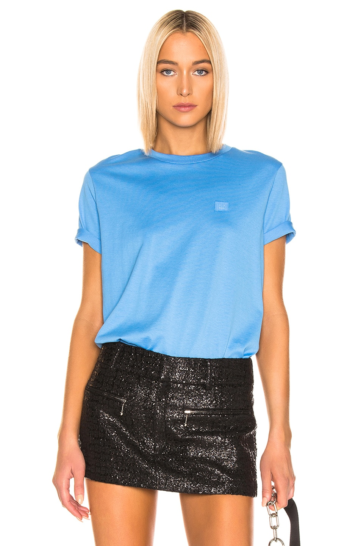 Image 1 of Acne Studios Ellison T Shirt in Aqua Blue