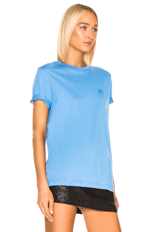Image 2 of Acne Studios Ellison T Shirt in Aqua Blue
