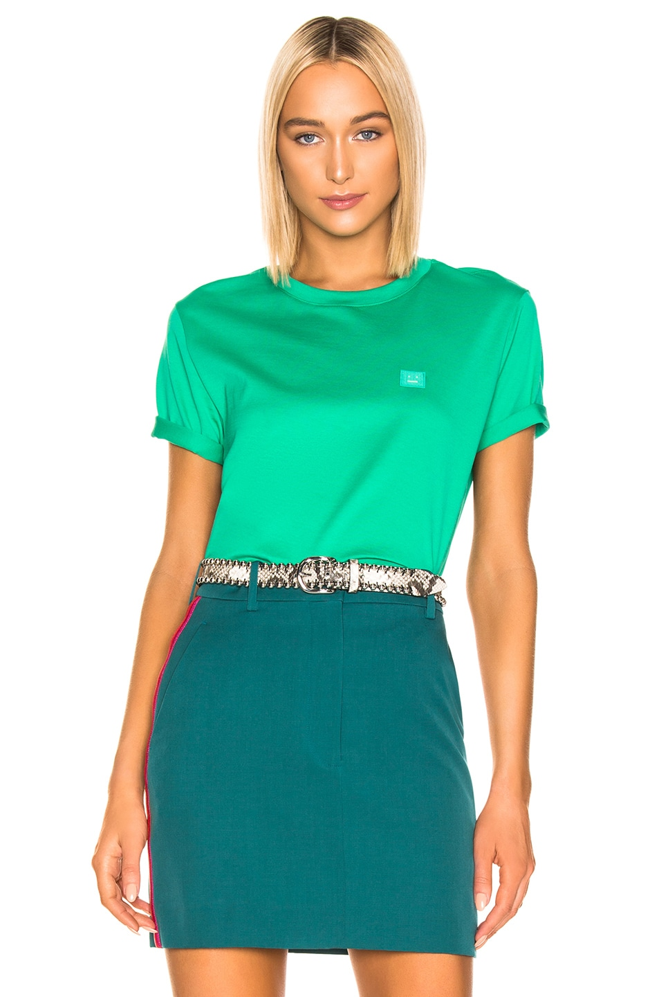 Image 1 of Acne Studios Ellison T Shirt in Sharp Green