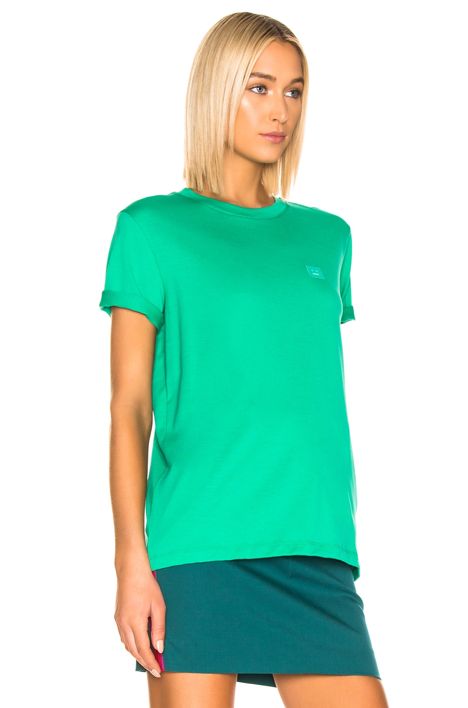 Image 2 of Acne Studios Ellison T Shirt in Sharp Green