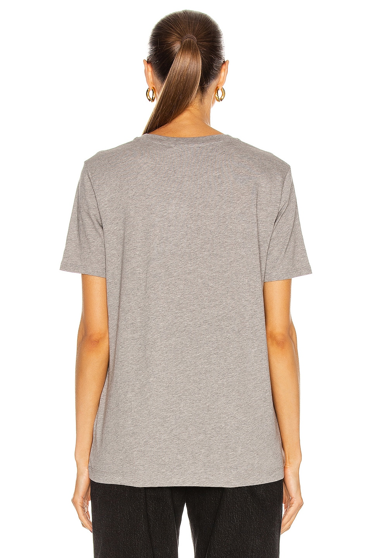Image 3 of Acne Studios Face T Shirt in Light Grey Melange