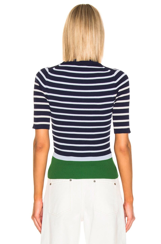 Image 3 of Acne Studios Kassandra Knit Top in Navy & White