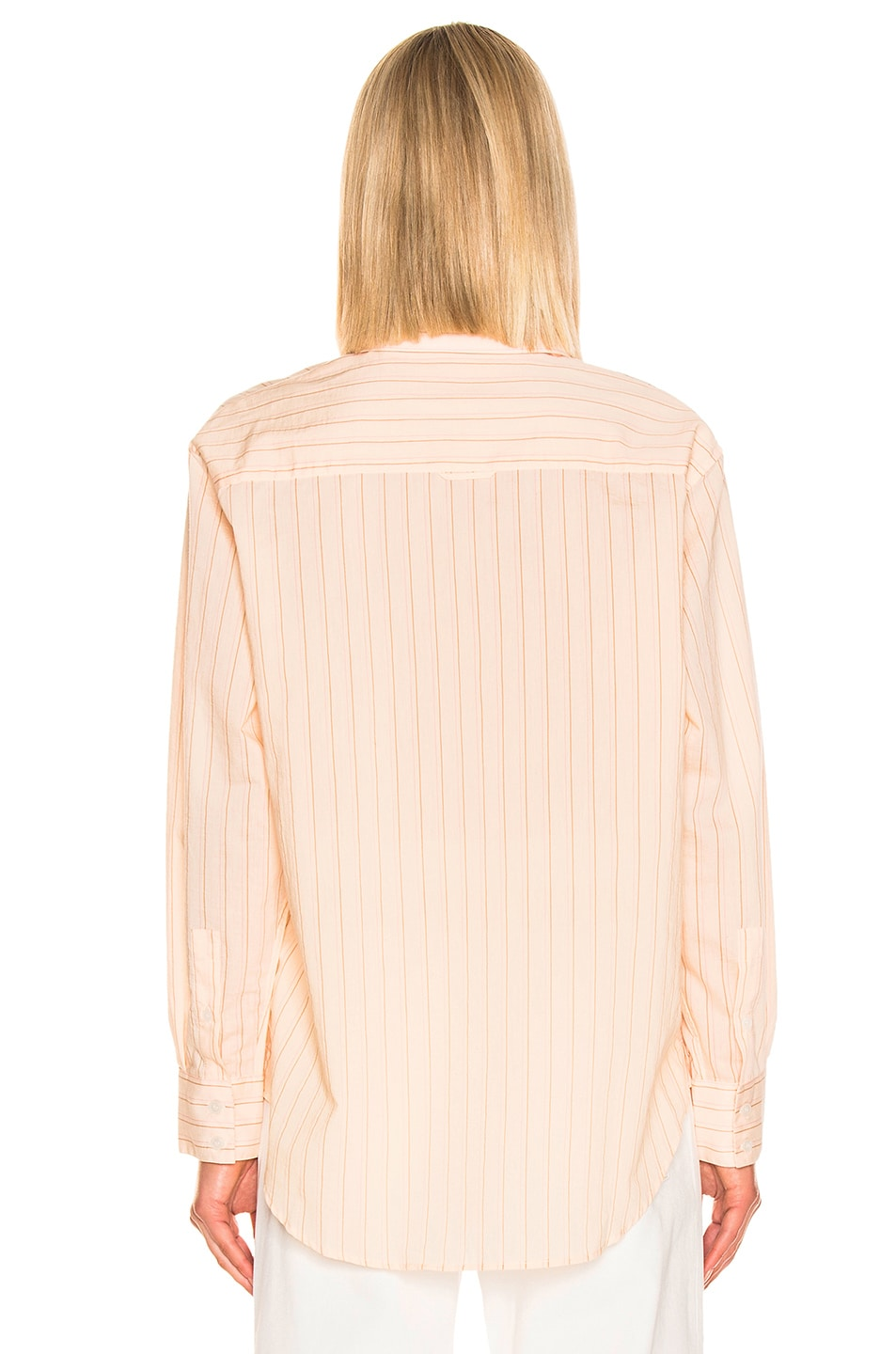 Image 3 of Acne Studios Selma Shirt in Beige & Pink