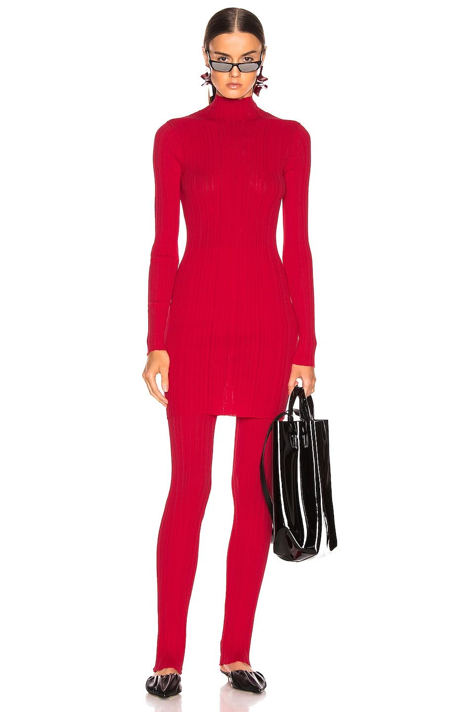 Image 2 of Acne Studios Kiki Knit Top in Tomato Red