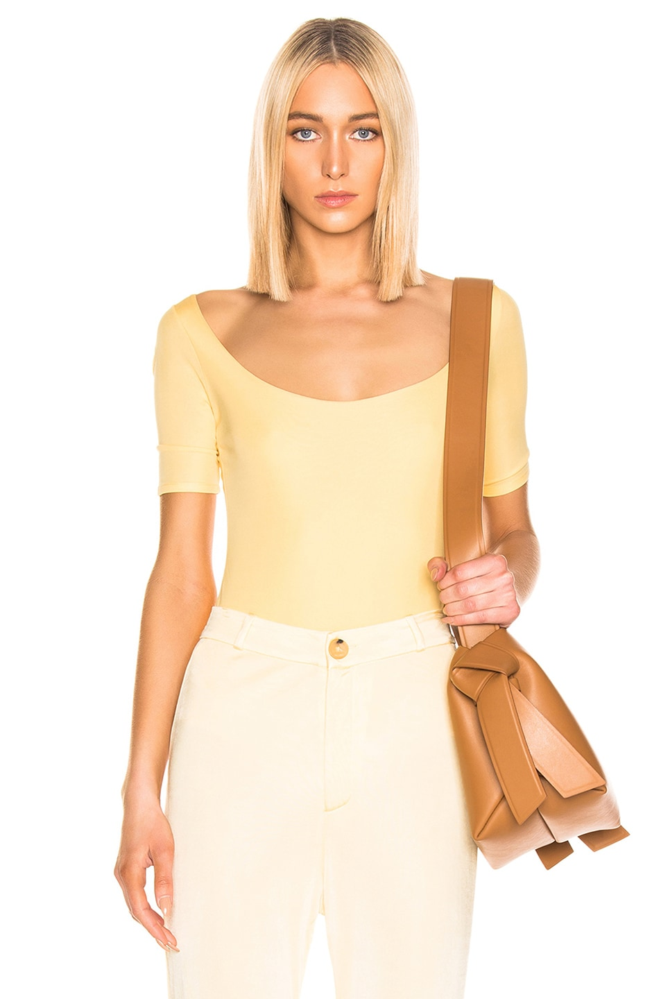 Image 1 of Acne Studios Ellora Bodysuit in Pale Yellow