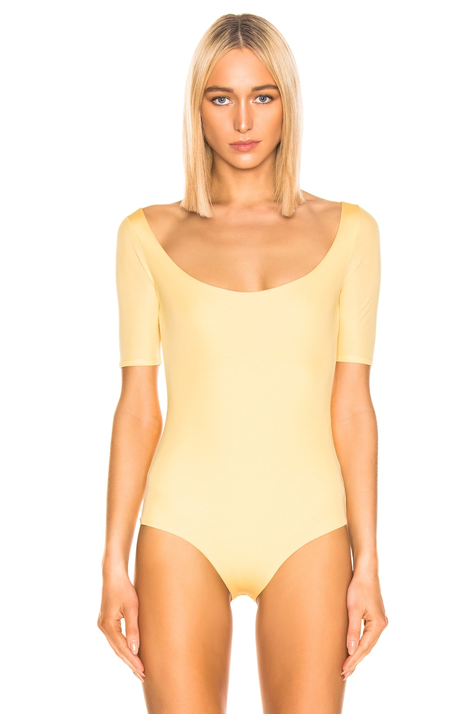 Image 2 of Acne Studios Ellora Bodysuit in Pale Yellow