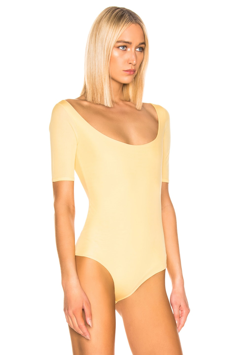 Image 3 of Acne Studios Ellora Bodysuit in Pale Yellow