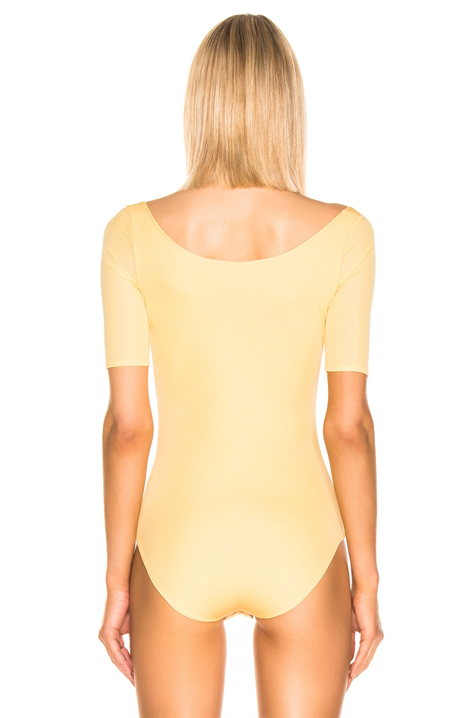 Image 4 of Acne Studios Ellora Bodysuit in Pale Yellow
