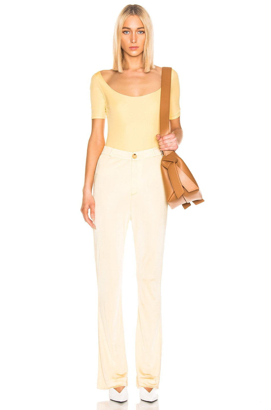 Image 5 of Acne Studios Ellora Bodysuit in Pale Yellow