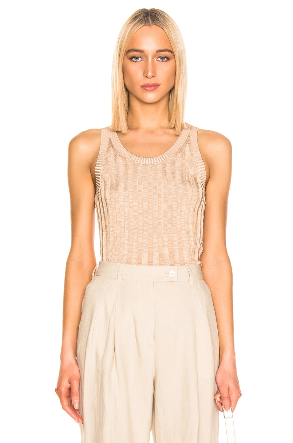 Image 1 of Acne Studios Katrina Tank Top in Beige & Sand