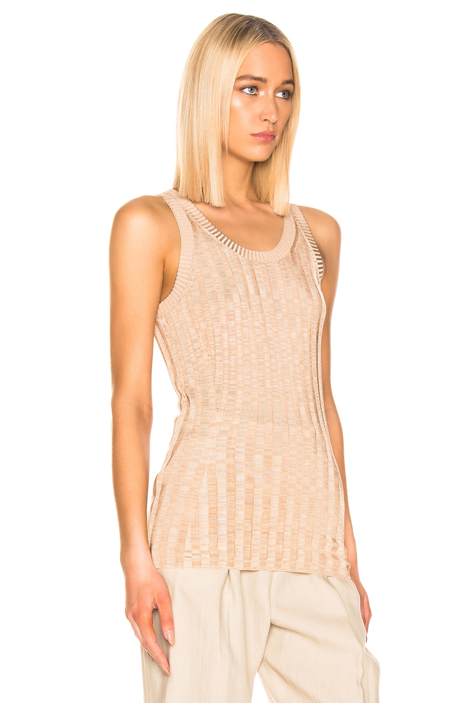 Image 2 of Acne Studios Katrina Tank Top in Beige & Sand