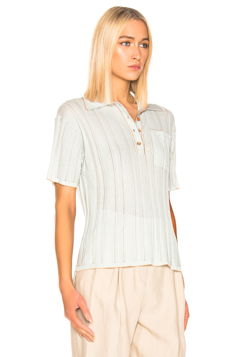 Image 2 of Acne Studios Karina Knit Top in Dusty Blue