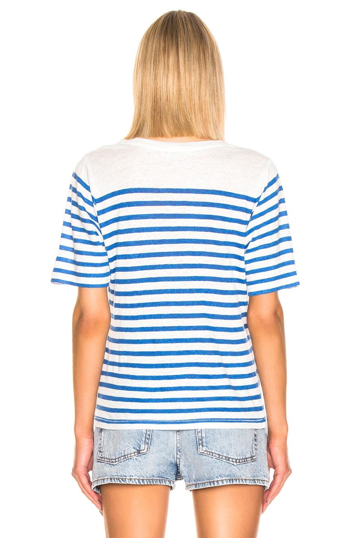 Image 3 of Acne Studios Megalin T Shirt in Beige & Blue