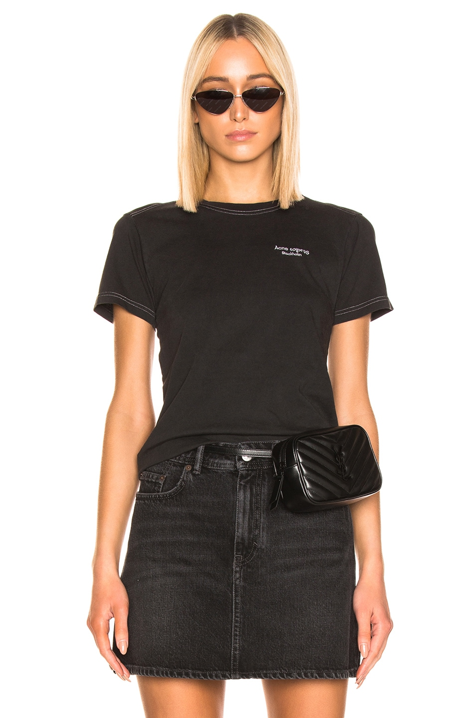 Image 1 of Acne Studios Wanda T Shirt in Black