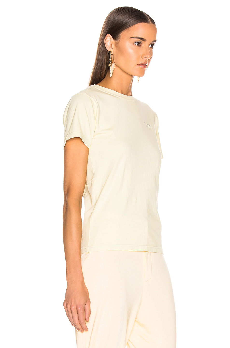 Image 2 of Acne Studios Wanda T Shirt in Vanilla Yellow