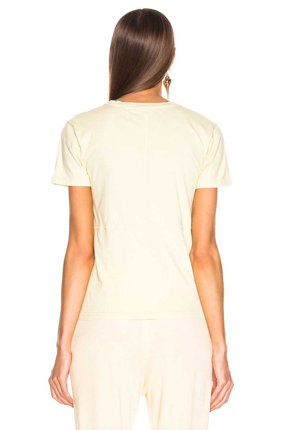 Image 3 of Acne Studios Wanda T Shirt in Vanilla Yellow