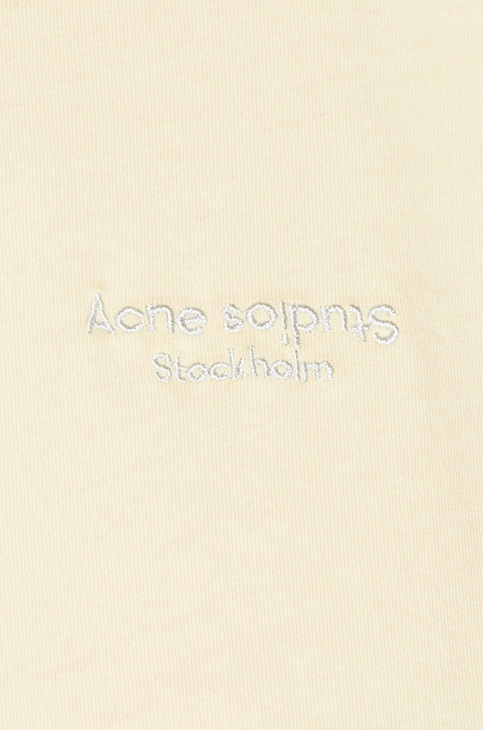Image 5 of Acne Studios Wanda T Shirt in Vanilla Yellow