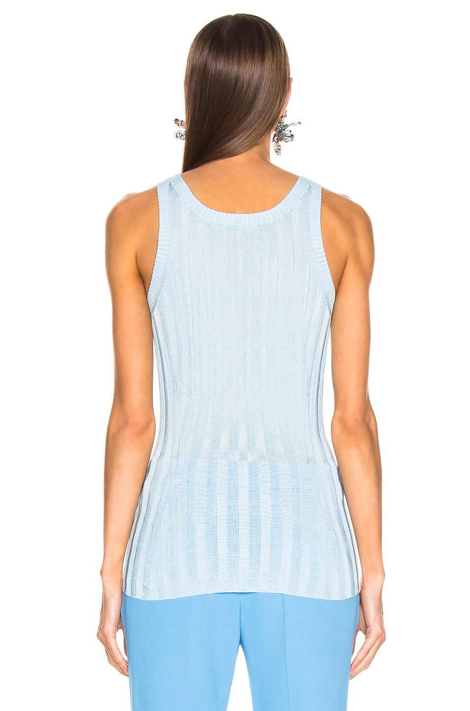 Image 3 of Acne Studios Katrina Tank Top in Blue & Aqua